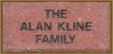 Brick honoring a family